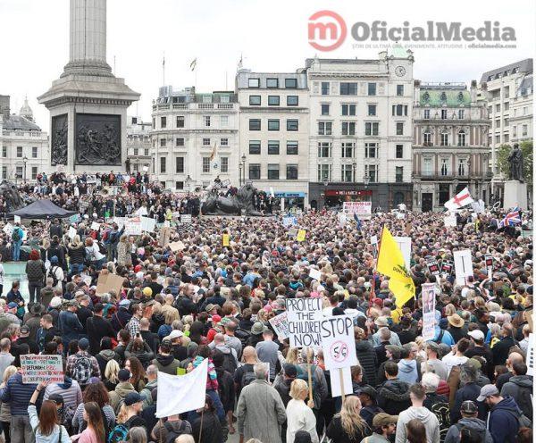 zeci de mii de manifestanți pentru libertate de la Londra