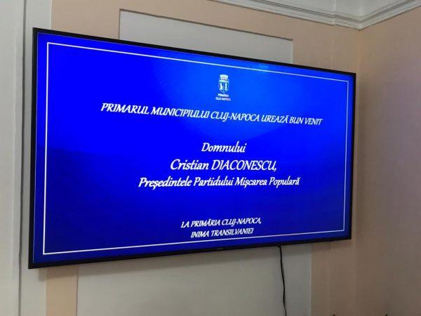 Cristian Diaconescu întâlnire cu primarul Emil Boc